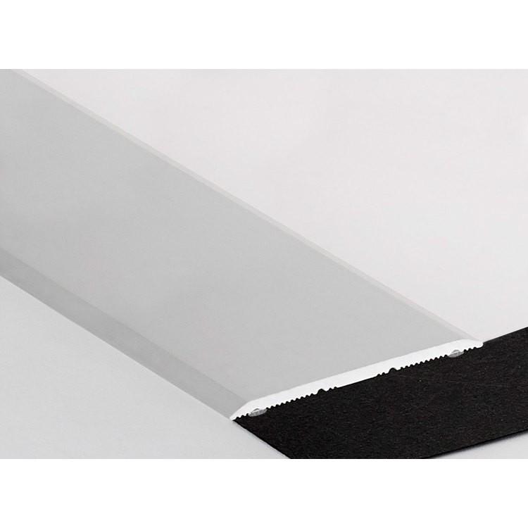 Barre de seuil plat alu incolore adh sif 40mm long 0 90m - Barre de seuil alu exterieur ...