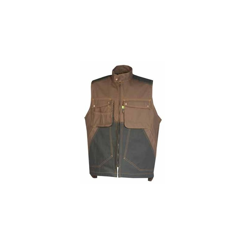 Gilet Craft Worker Marron/Noir