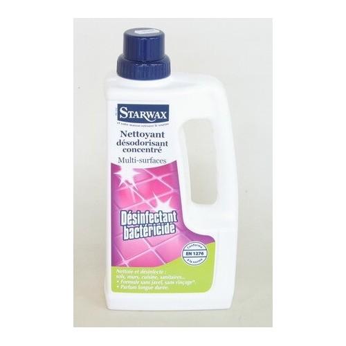 Nettoyant Désinfectant Bactéricide Starwax sans Javel à Diluer (Flacon 1L)