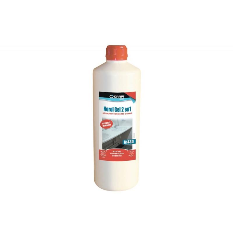 NETTOYANT NOROL GEL 2 EN 1 DETERGENT JAVEL FLACON DE 1L