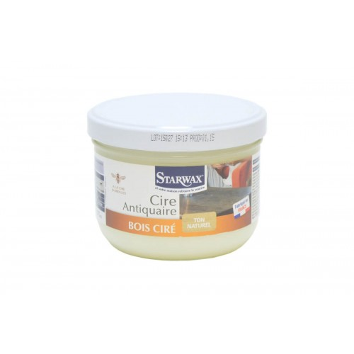 STARWAX CIRE ANTICAIRE BOIS CIRE TON NATUREL POT DE 375ML