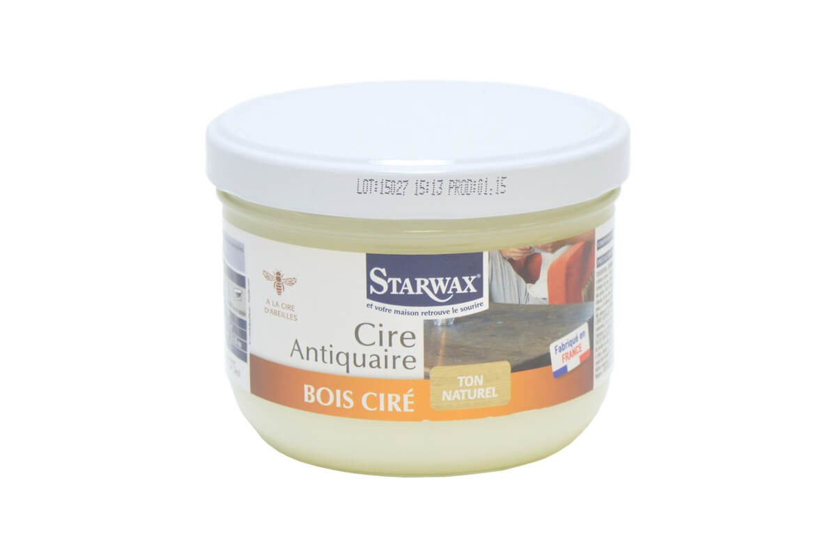 starwax cire antiquaire bois cir ton naturel pot 375ml. Black Bedroom Furniture Sets. Home Design Ideas