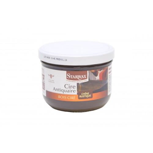Starwax Cire Antiquaire Bois Ciré Ton Chêne Rustique (Pot 375ml)