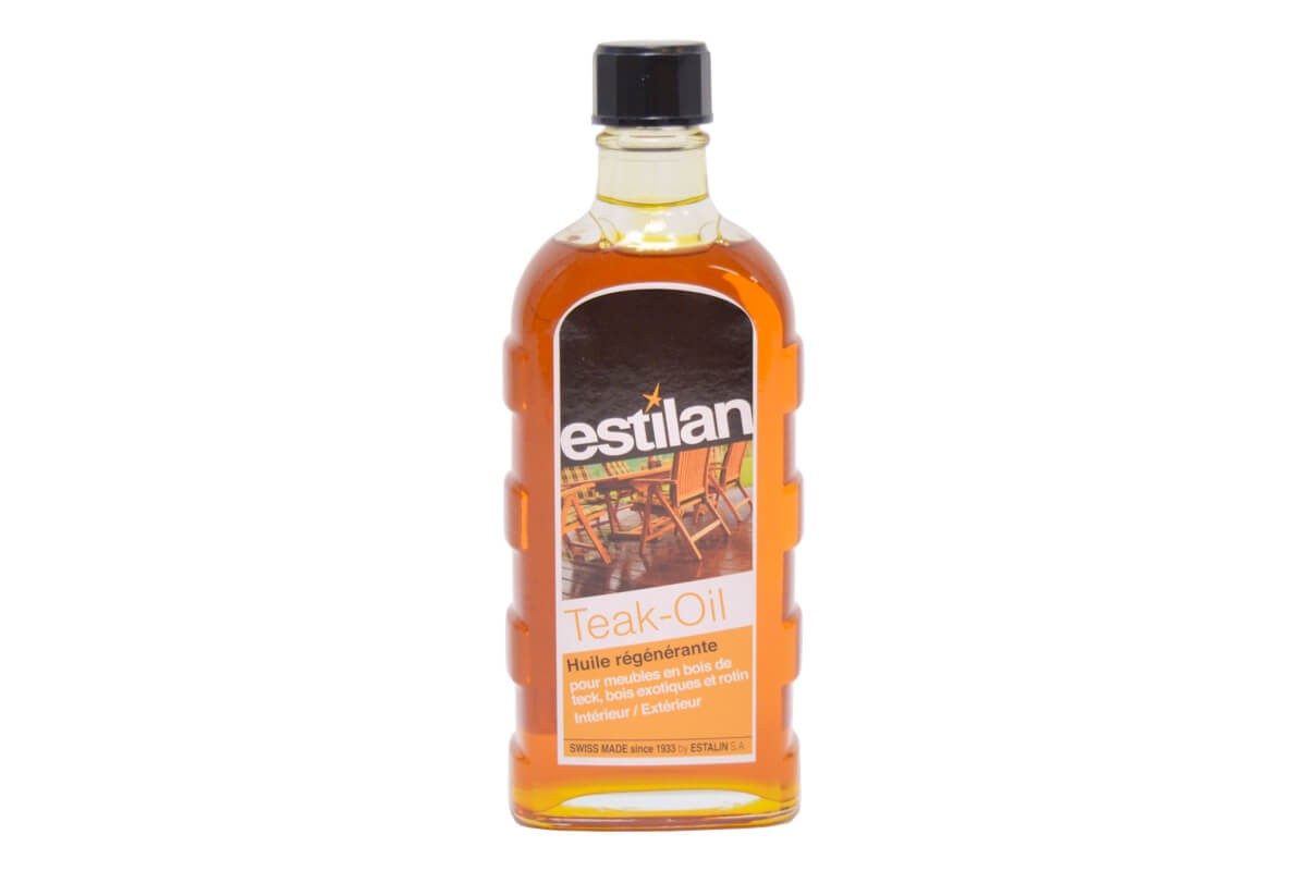 Estalin teak oil flacon 250ml for Entretien meuble bois exotique