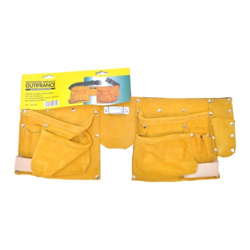 PORTE OUTILS 11 POCHES CUIR
