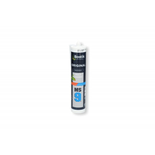 Mastic colle Bostik MS9 transparent 290ml