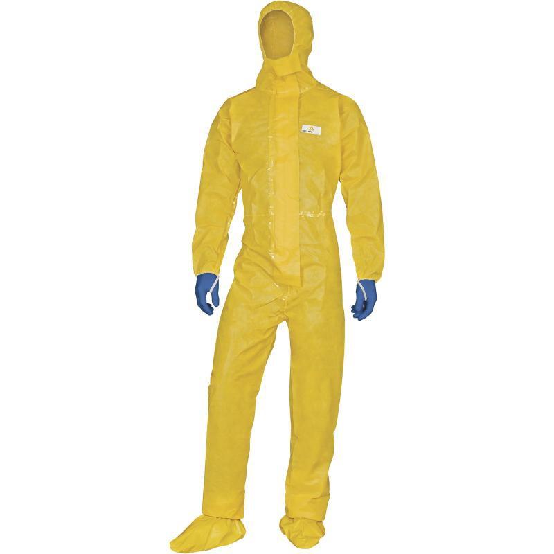 Combinaison jetable imperméable jaune