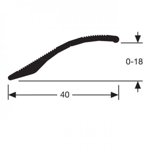 Seuil multi niveaux adhésif alu incolore (Long. 0,90M)