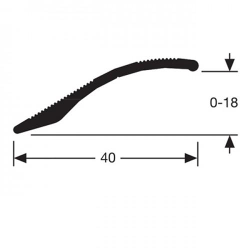 Seuil multi niveaux adhésif alu titane (Long. 0,90M)