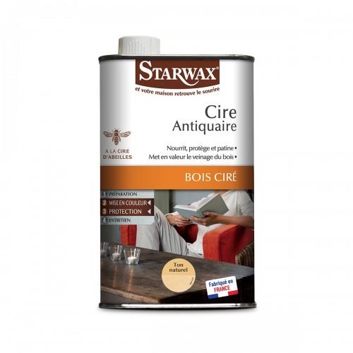 Starwax Cire Antiquaire Bois Ciré Ton Naturel (Flacon 1L)